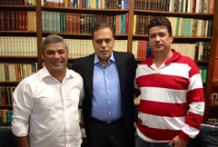 10 05 2015 Taparuba Pref Joaquim Carlos, Dep Paulo Abi-Ackel e sec Planejamento Emilio Corrêa
