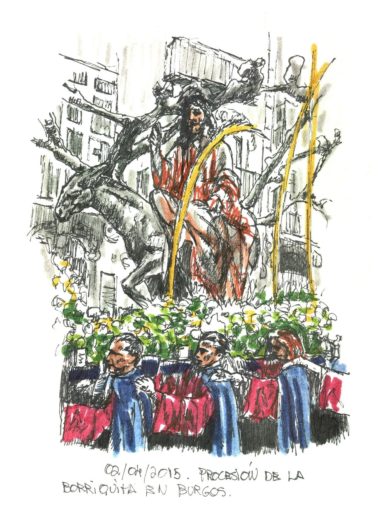 Procesión de las Palmas en Burgos