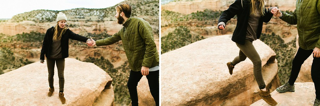 Colorado adventure engagement session