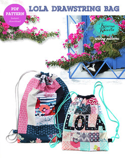 Lola drawstring bag pattern