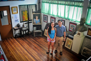 Janna and Nikko Inside the Botong Francisco House