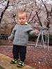 Step balancing toddler