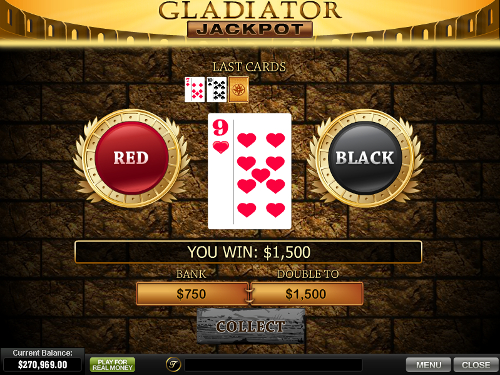 free Gladiator Jackpot slot gamble feature