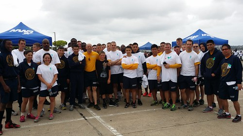 CORONADO, Calif. - Sailors assigned to Beachmaster Unit One (BMU-1) participated in the fifth annual Sexual Assault Awareness, Prevention and Response (SAPR) 5-kilometer run and 2-kilometer walk on board Naval Air Station North Island.