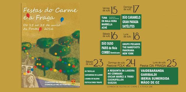 As Pontes 2016 - Festas Patronais do Carme e da Fraga - programa
