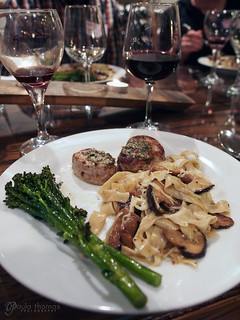 Truffle Pasta with Shitake Mushroom Sauce and pork Medalions