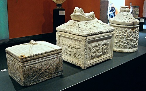 "Three Funerary Urns from San Tammaro / Caserta - 1st century AD - Naples, Archaeological Museum - ""Augustus and Campania"" - Exhibition at Archaeological Museum of Naples, until May 4, 2015"