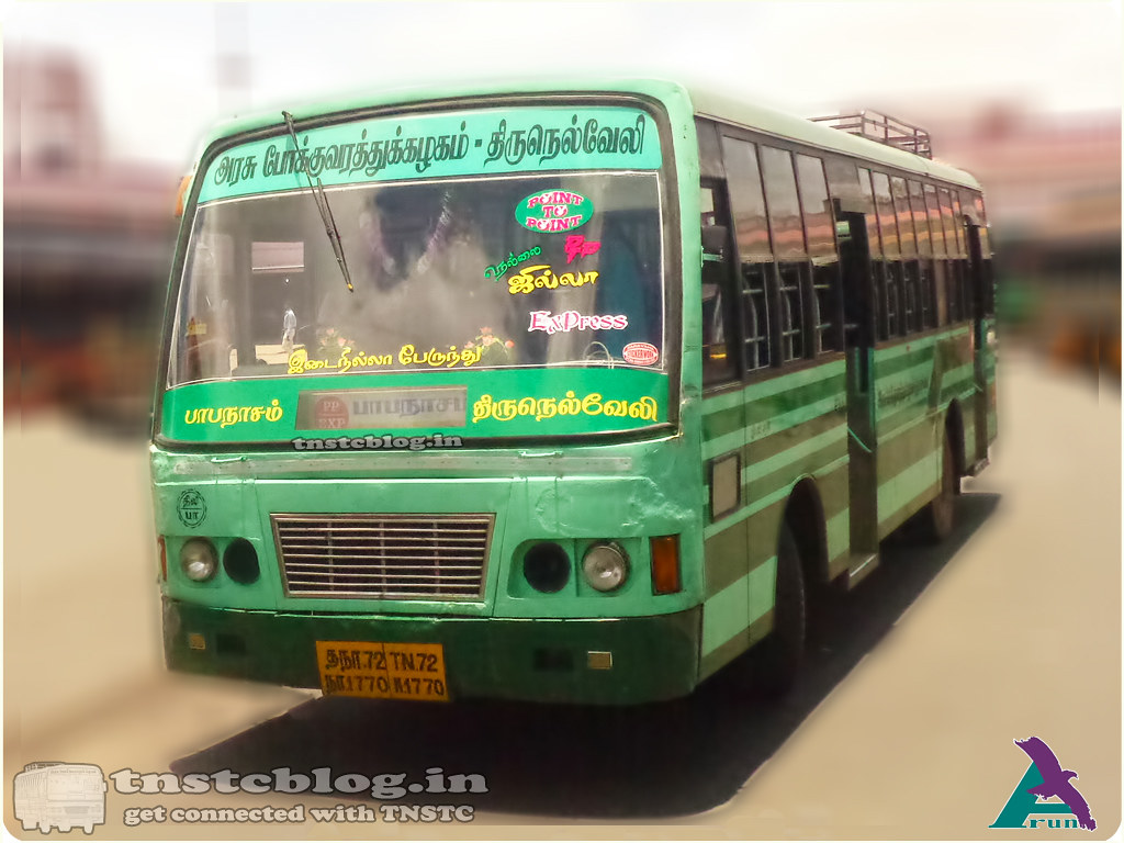 TN-72N-1770 of Papanasam Depot Route Papanasam - Tirunelveli Point to Point