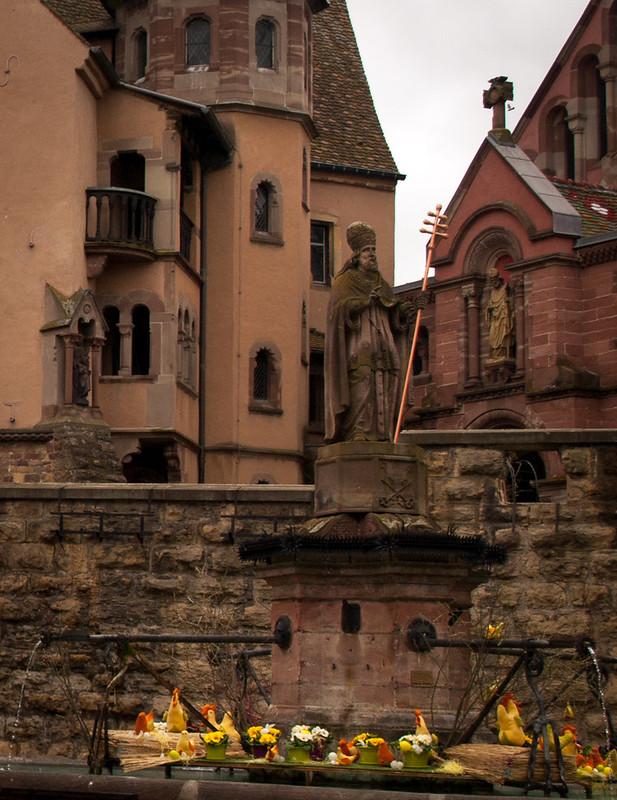 Plaza central de Eguisheim
