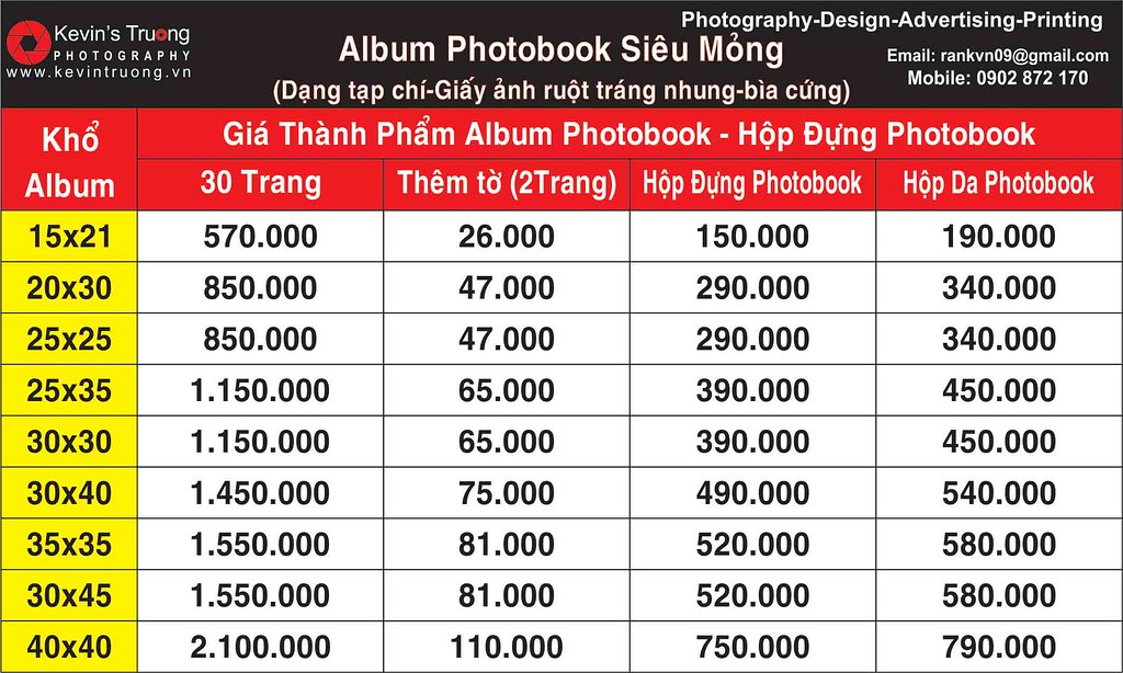 bang gia album photobook