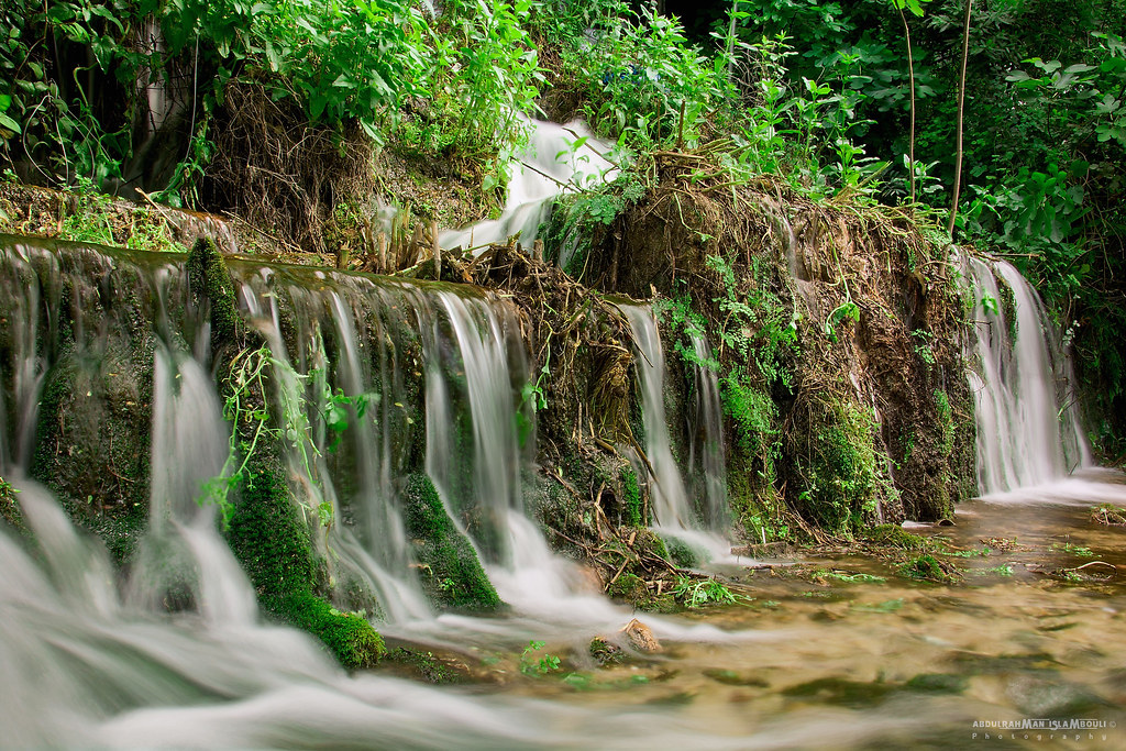 Waterfall of spring