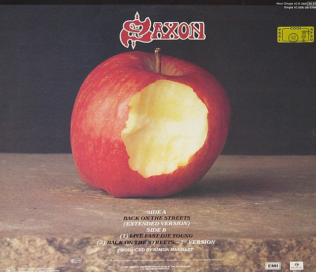 "Saxon - Back on the Streets (extended version) / Live Fast Die Young 12"" Maxi"