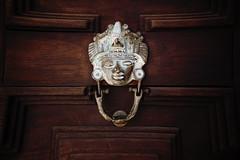 carving, wood, door knocker,