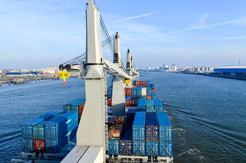 Voile dans le port de Rotterdam