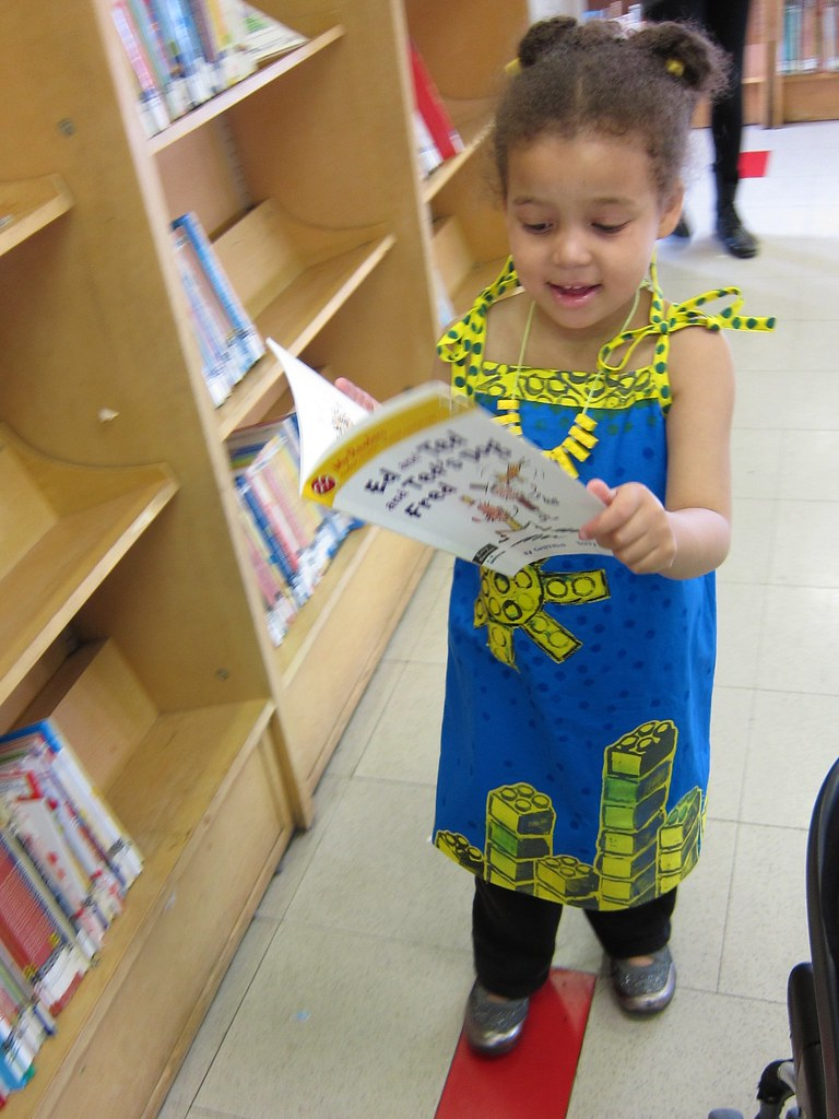 Block-Printed Lego Cityscapes Dress (Oliver +  S Popover Sundress)