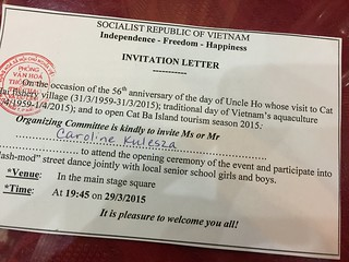 Our official invitation to a party