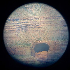 For #tbt I took a photo through a coin-operated #telescope at the #grandcanyon. I think it looks like #jupiter.