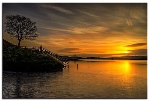 water sunrise yorkshire ngc reservoir embsay d600 embsayreservoir nikkor1635mmf4 nikonfxshowcase
