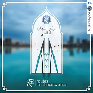 #Repost @routesonline   8 days to go until #RoutesMEA.  Bahrain World Trade Center was the first skyscraper in the world to integrate wind turbines into its design and is currently the second-tallest building in Bahrain. Routes Middle East & Africa 2