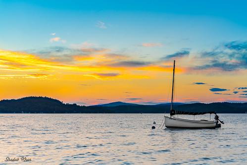 sonya7ii sonyalpha sonnartfe1855 mirrorless tripod summer 2016 sunset water outdoor lake serene sky