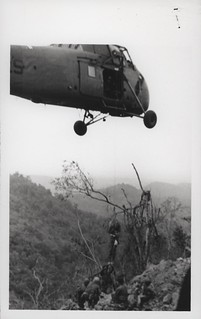 Wounded Marine is Lifted by Helicopter, 15 February 1968