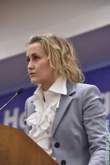 Deborah Bergamini alla manifestazione di Forza Italia all'Hotel Ergife