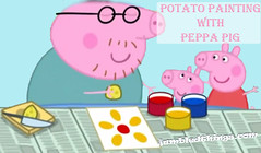 Potato Painting with Peppa Pig
