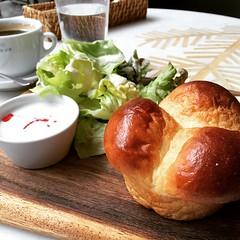 500 yen breakfast♡ #garbmonaque #grandfront #osaka #breakfast #japan