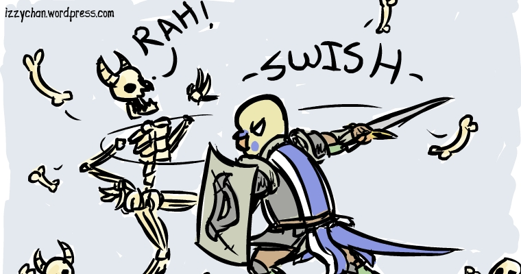 danger bird skeletons fight swish