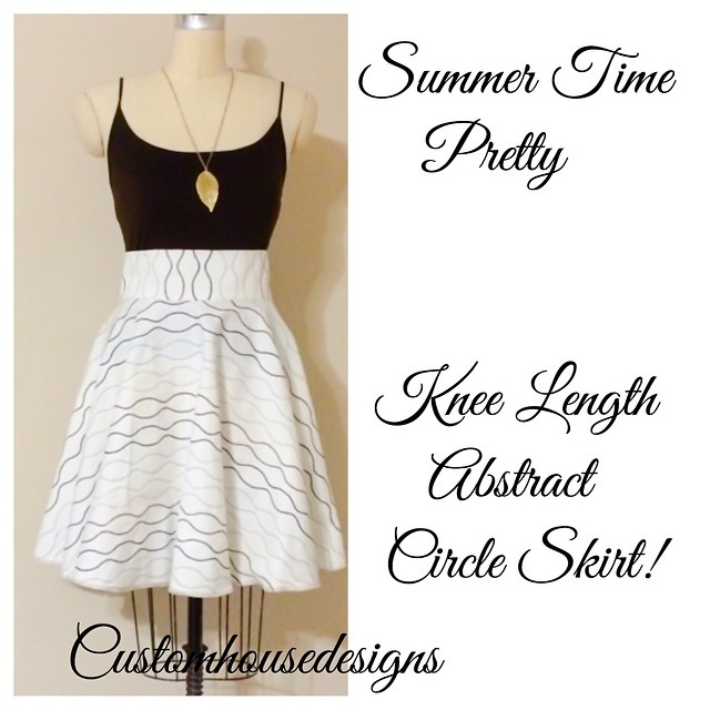 Knee Length Circle Skirt! A #CustomHousedesigns original! Custom made and one of a kind apparel and accessories by @itsmelaniedarling and @polishedbou! Stay tuned for the upcoming launch of Customhousedesigns and available distinct items for purchase th