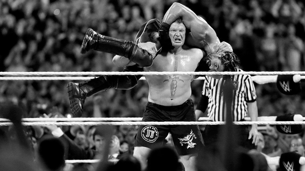 Brock Lesnar Fight WWE Eat Sleep Break The Streak Wallpaper