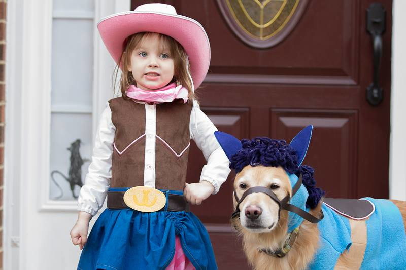 sheriff callie and sparky - halloween 2014