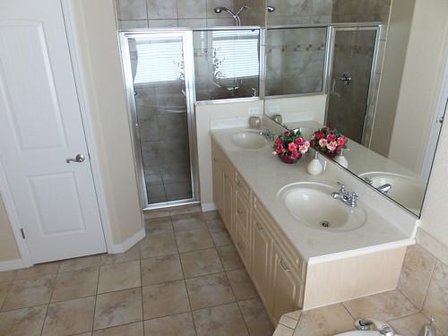 Master bedroom double sink