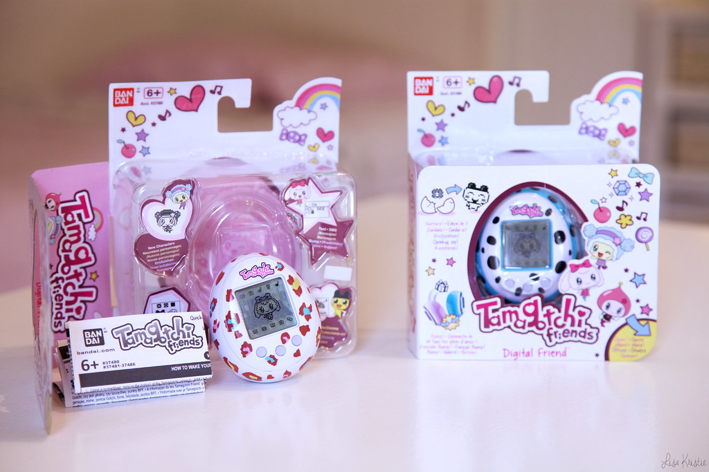 Tamagotchi Friends bandai european version wave 1 white red pink orange leopard blue dalmatian black spots original packaging brand new