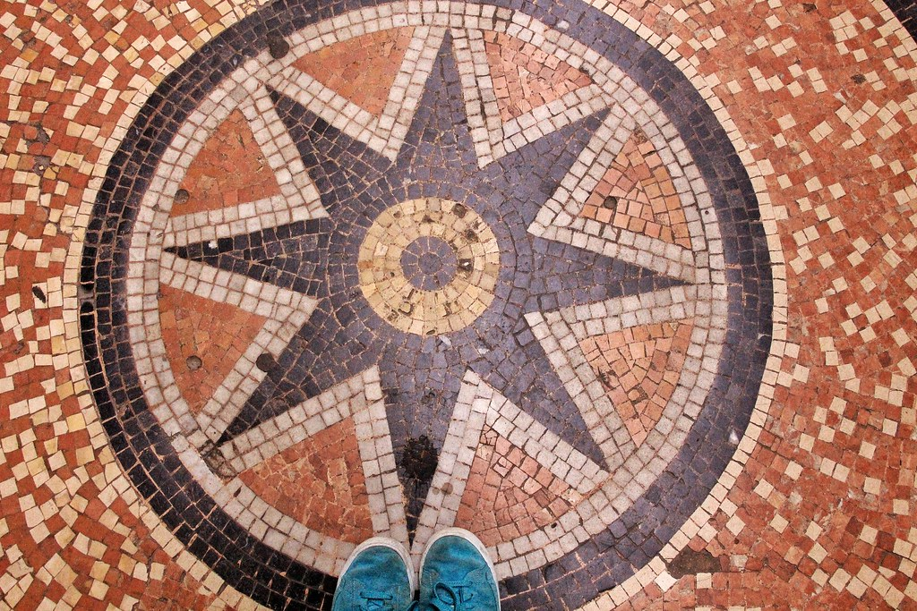 Galerie Vivienne mosaic floor, Paris