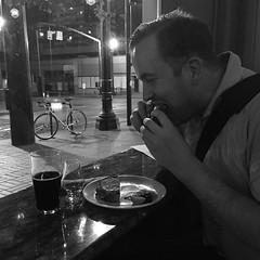 @klsanders82 crushing a mushroom panini, Highland Park 15 & a Köstritzer pint @ 2:23a. Nice.