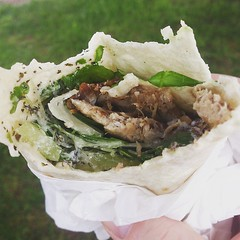 Cracking lamb wrap