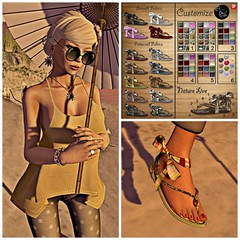 coldLogic NEW - Dark Mouse daisy necklace, earings & - ArisAris Sandals NEW! , Dark Mouse FREE hair - Petite Mort sunnies 10L