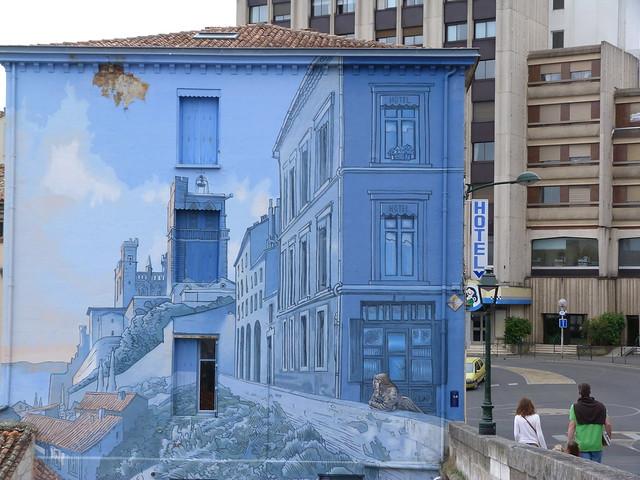Le fille des Remparts, uno de los murales más célebres de Angulema (Oeste de Francia)