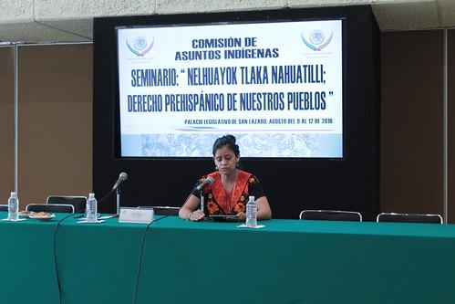 El día 11 de agosto del 2016 se llevó a cabo el Seminario: Derecho indígena prehispánico