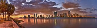 Miami sunset, United States