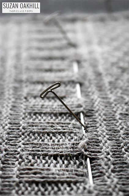 11 - Guernsey Wrap - Detail of Blocking Pin