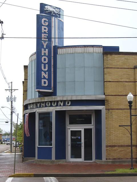 greyhound bus station, clarksdale, ms