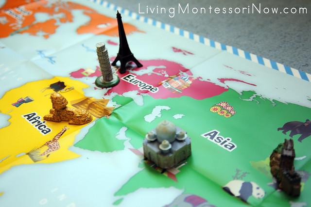 Adding Landmarks to the Little Passports World Map