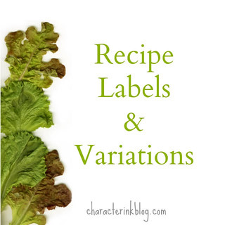 Recipe Labels and Variations