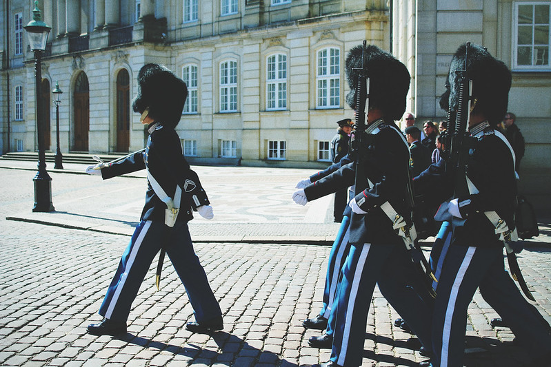 Royal Palace changing of the guard Copenhagen