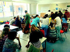 Today\'s parent tech coffee morning is packed! Topic: #minecraft explained by our gr6 students