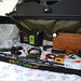 2W0DAA HF RADIO MOBILE POWER SETUP, Car trunk area, Normally the our Red Staffie dog sleeps here!