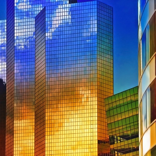 reflective towers