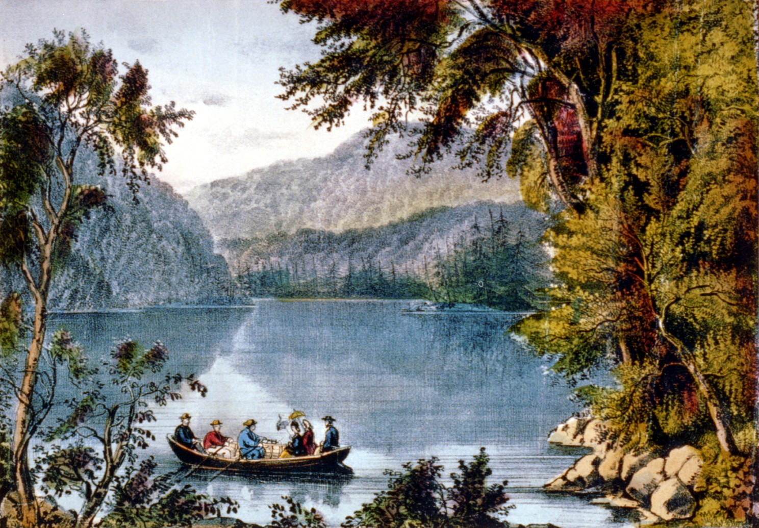 Echo Lake, White Mountains c. 1875